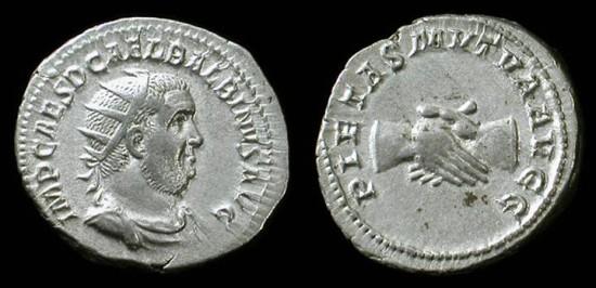 Balbinus, April-July 238 AD. Silver antoninianus. Rare. Excellent portrait!