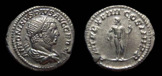 Caracalla, AR Antoninianus, AD 216. Jupiter. EF