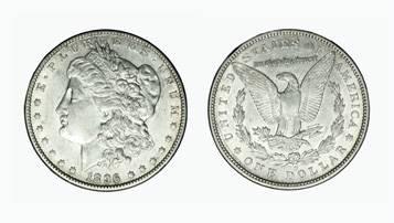 1 dollar. 1896 O. Morgan. United States.