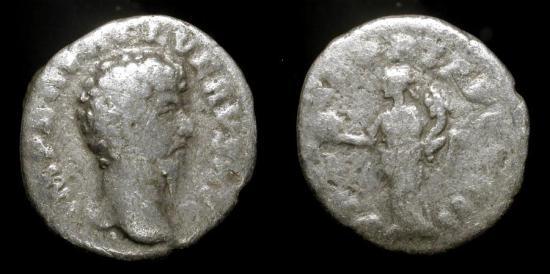 Lucius Verus, 161-169 AD. Silver Denarius. RIC 463
