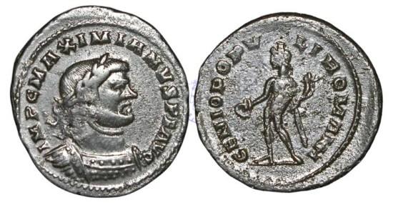 RB205 - Maximianus, 1st Reign (A.D. 286-305), Bronze Follis, 10.61g., London mint, c. A.D. late winter – early simmer 307, Group II, Class II