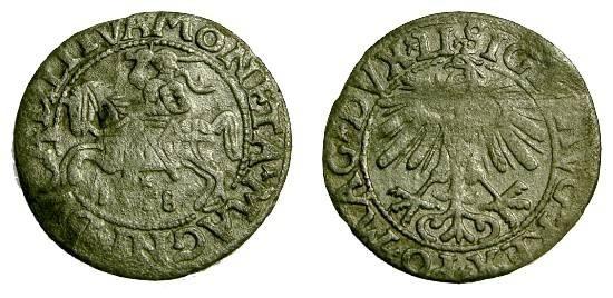 Poland, Sigismund II  (1544 - 1572) AR Half Grosz, Lithuania, 1558