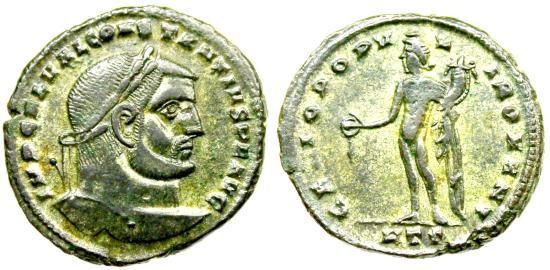 Constantius I GENIO POPVLI ROMANI from Heraclea