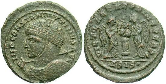 Constantine I, AE3, 319, Siscia, Officina 4 - RIC VII, 82 (Unattested officina)