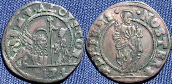 Italian States-Venice, Alvise Contarini as Doge (1676-1684), Soldo of 12 Bagattini, Venice Mint - Paolucci 107.17
