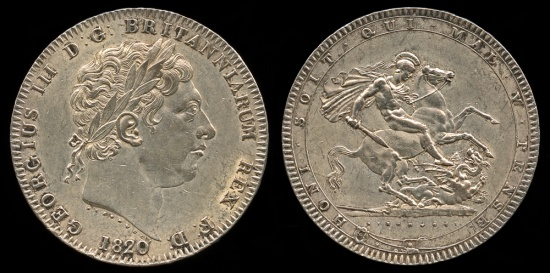 1820 LX Great Britain Crown UNC