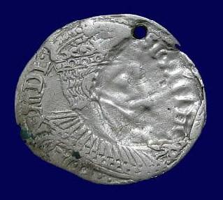 Sigismund III 1587-1632, Silver 3 Groschen. Mint Error