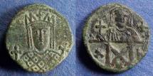 Ancient Coins - Byzantine Empire, Irene & Constantine VI 780-797, Follis