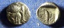 Ancient Coins - Caria, Mylasa 450-400 BC, obol