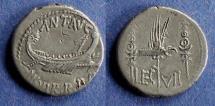 Ancient Coins - Roman Imperiatorial, Marc Antony 31-30 BC, Denarius
