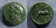 Ancient Coins - Thessaly, Thebai Circa 300 BC, AE19