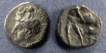 Ancient Coins - Calabria, Taras 380-325 BC, Diobol