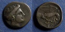 Ancient Coins - Euboia, Chalkis 338-308 BC, Drachm