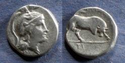 Ancient Coins - Lucania, Thouroi 281-261 BC, Nomos