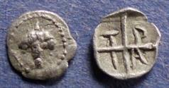 Ancient Coins - Macedonia, Tragilos 450-400 BC, Hemiobol