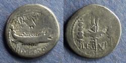 Ancient Coins - Roman Imperatorial, Marc Antony 32-31 BC, Legion VI Denarius