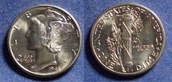Us Coins - United States,  1943, Silver Mercury Dime, MS65 FSB