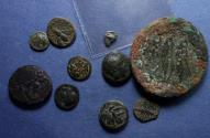 Ancient Coins - Group of 10 Greek coins,  300 BC to 100AD,