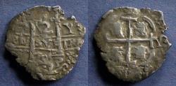 World Coins - Bolivia, Charles II 1679 PV, 2 Reales