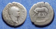 Ancient Coins - Roman Empire, Domitian (as Caesar) 69-81, Silver Denarius