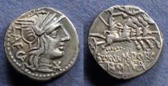 Ancient Coins - Roman Republic, M Porcia Laeca 110-109 BC, Denarius