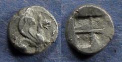 Ancient Coins - Ionia, Teos 510-490 BC, Diobol
