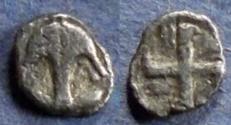 Ancient Coins - Thrace, Apollonia Pontika 470-450 BC, Hemiobol