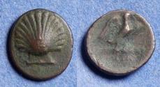 Ancient Coins - Calabria, Graxa Circa 225 BC, Bronze AE15