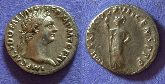Ancient Coins - Domitian (as Augustus) 81-96AD – Denarius