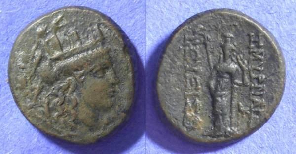 Ancient Coins - Smyrna Ionia – AE19 Circa 75 BC