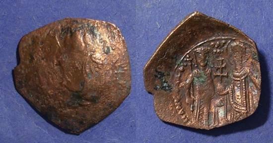 Ancient Coins - Empire of Thessalonika, Manuel Comnenus-Ducas 1230-7, Trachy