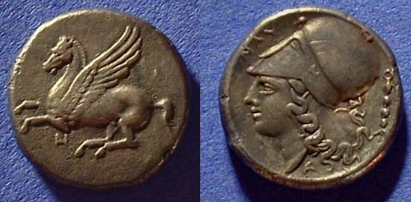 Ancient Coins - Anaktorian, Akarnania  Stater 345-305BC