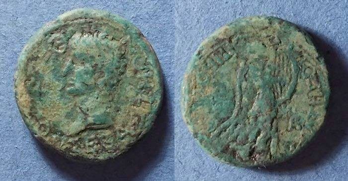 Ancient Coins - Thessalian League, Claudius 41-54 AD, AE25