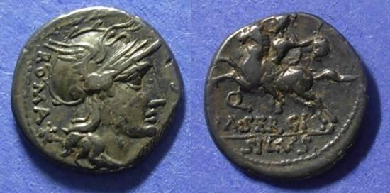 Ancient Coins - Roman Republic M Sergius Silus 116/115 BC Denarius