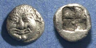 Ancient Coins - Neapolis, Macedonia 525-450 BC, Obol
