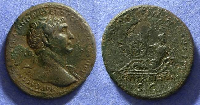 Ancient Coins - Trajan 98-117AD  Aes  - Via Traiana reverse