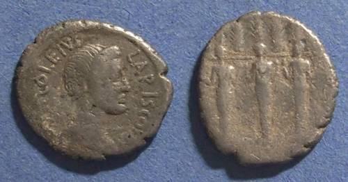 Ancient Coins - Roman Republic, P Accoleius Lariscolus 43 BC, Denarius