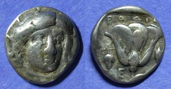 Ancient Coins - Rhodes, Islands off Caria 340-326 BC, Didrachm