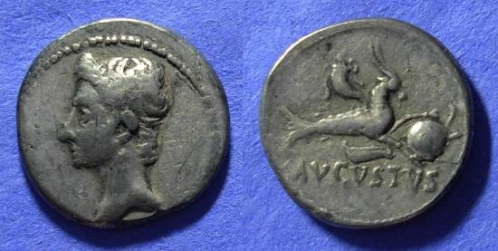 Ancient Coins - Augustus 27BC-14AD Denarius