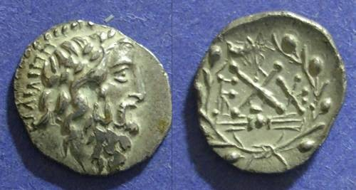 Ancient Coins - Achaean League, Elis 45-30 BC, Hemidrachm