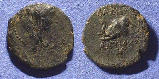 Ancient Coins - Seleucid Kingdom Antiochos IV AE-17 175-164BC