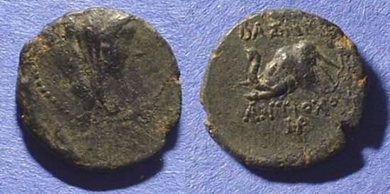 Ancient Coins - Seleucid Kingdom Antiochos IV AE-17 175-164BC