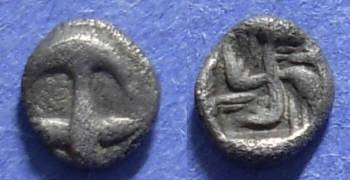 Ancient Coins - Apollonia Pontika, Thrace 450-400 BC, Hemiobol
