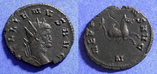 Ancient Coins - Gallienus 253-268AD Antoninianus - Hippocamp reverse
