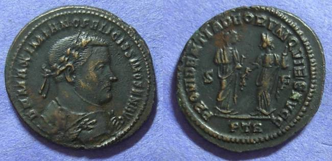 Ancient Coins - Maximianus 305 Abdication follis