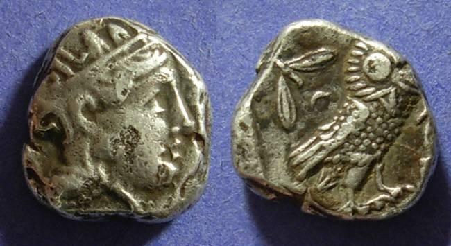 Ancient Coins - Athens Attica 393-330 BC Tetradrachm