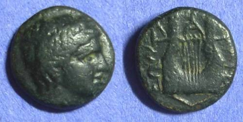 Ancient Coins - Chalcidian league – Olynthos Macedonia AE16 – 392-379BC