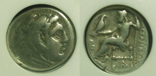 Ancient Coins - Macedonian Kingdom, Alexander III 336-323 BC, Drachm - NCG Slab