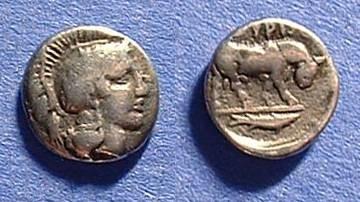Ancient Coins - Thourioi Lucania Diobol Circa 420-380 BC