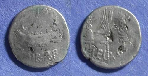 Ancient Coins - Roman Imperatorial, Marc Antony 32/31 BC, Fouree Denarius